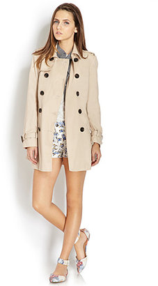 Forever 21 Iconic Casual Trench Coat
