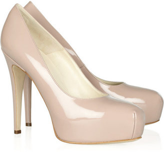 Brian Atwood The Maniac patent-leather platform pumps