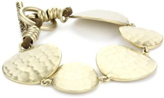 Kenneth Cole New York Gold-Tone Circle Disk Toggle Bracelet