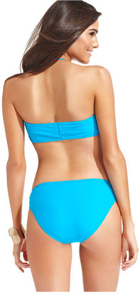 Jessica Simpson Swimsuit, Solid Halter Bikini Bustier Top
