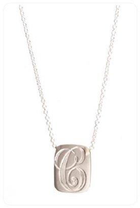 Ariel Gordon Jewelry Initial Dog Tag Necklace