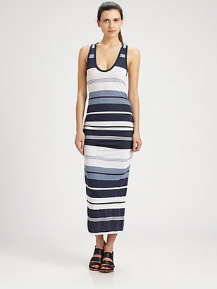 James Perse Pacific Striped Maxi Dress