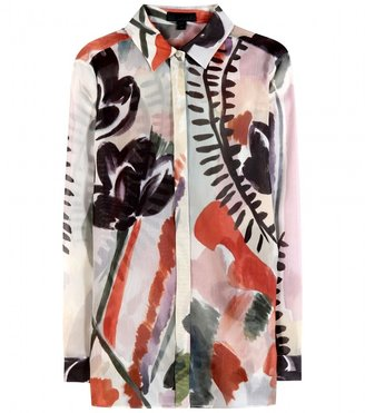 Burberry Printed silk and cotton-blend shirt
