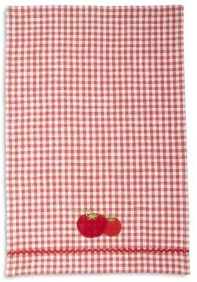 Sur La Table Embroidered Tomato Kitchen Towel