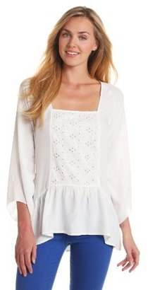 Chaudry Women's Long Sleeve Eyelet Top Option