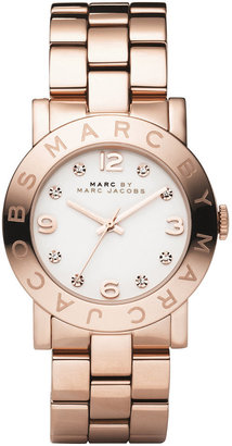 Marc by Marc Jacobs Watch, Women's Amy Rose Gold Ion Plated Stainless Steel Bracelet MBM3077 $200 thestylecure.com