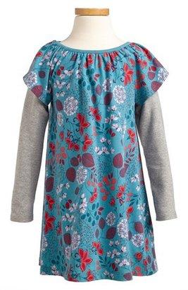 Tea Collection 'Botanical' Layer Dress (Toddler Girls, Little Girls & Big Girls)