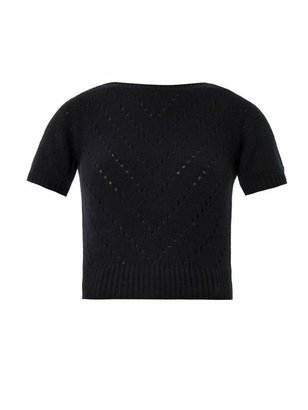Dolce & Gabbana Cashmere perforated knit sweater