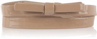 Lanvin Bow-embellished patent-leather belt