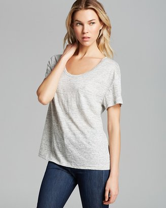 Michael Stars Tee - Pocket Heather