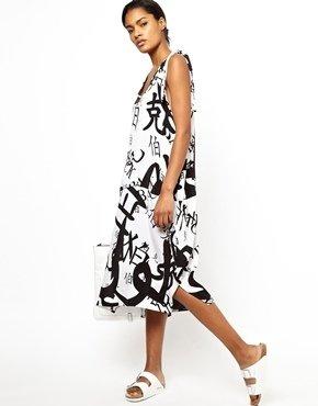 Ann Sofie Back BACK by Ann-Sofie Back Dress in Chinese Print - Black on white
