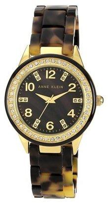 AK Anne Klein Anne Klein Crystal Case Bracelet Watch, 35mm