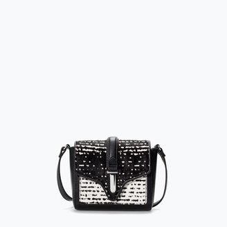 Zara Printed Messenger Bag