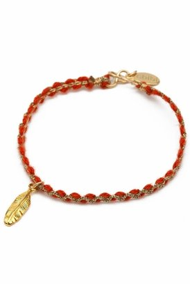 Chibi Jewels Color Cord Bracelet with Native Charm in Red/Gold