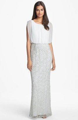 Aidan Mattox Embellished Lace & Silk Chiffon Gown