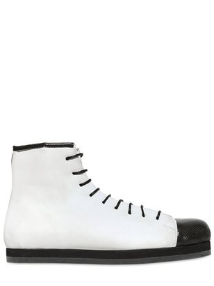 Forfex Eco Leather Wedge Sneakers