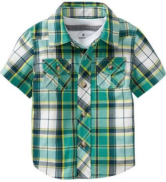 Old Navy Plaid Double-Pocket Shirts for Baby