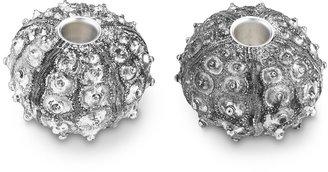 Williams-Sonoma Silver Sea Urchin Tiny Taper Holders