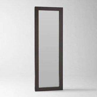 west elm Parsons Floor Mirror - Chocolate-Stained Veneer