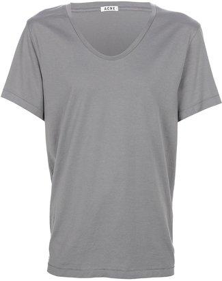 Acne scoop neck t-shirt