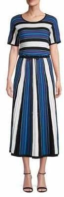 HUGO Stephory Stripe Midi Dress