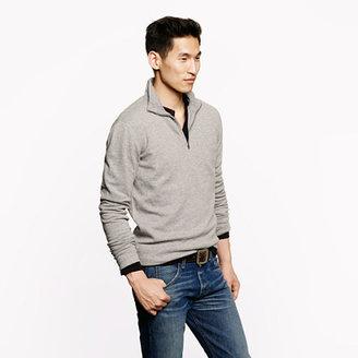 J.Crew Reverse waffle half-zip sweatshirt