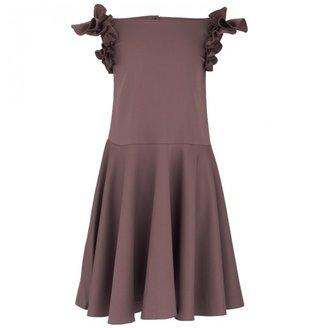 That's Not Fair Ruffle Sleeve Dress