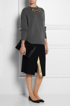 Marni Piped-sleeve cashmere sweater