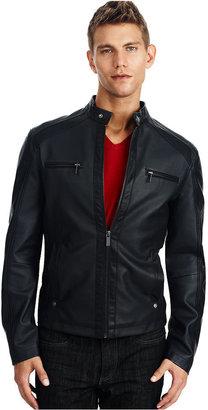 Kenneth Cole Reaction Jacket, Faux Leather Moto Jacket