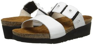 Naot Footwear Ashley (Black Madras Leather) Women's Sandals