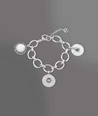 Emporio Armani Bracelet In Steel, Resin, Mother Of Pearl And Swarovski Crystals