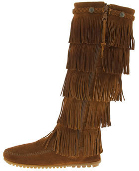 Minnetonka Women's '5 Layer Fringe' Boot