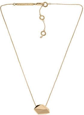 Michael Kors Nugget Pendant Necklace, Golden