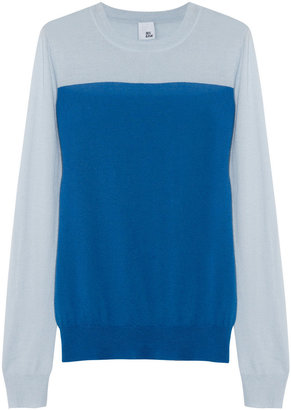 Iris & Ink Cherie color-block cashmere sweater
