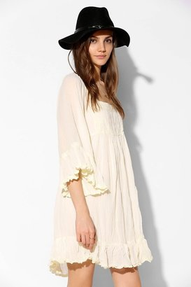 Urban Outfitters Staring At Stars Crochet-Detail Peasant Dress