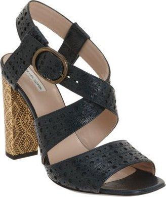 Dries Van Noten Perforated Paisley Pattern Sandal