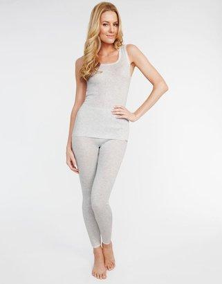 Figleaves thermal Thermal Lace Trim Stripe Vest