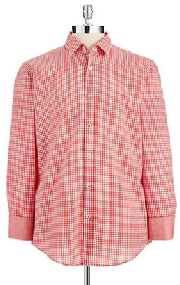 HUGO BOSS Checkered Button-Down Shirt