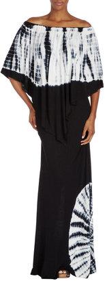 Young Fabulous & Broke Young Fabulous and Broke Fiona Tie-Dye Maxi Dress, Black/White