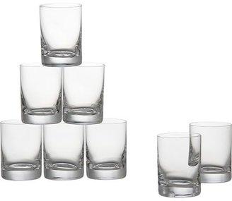 Crate & Barrel Set of eight bitty bite tall glasses. 3 oz