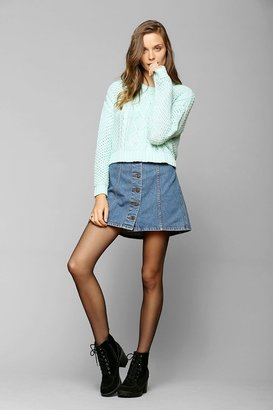 BDG Cable-Knit Cropped Sweater