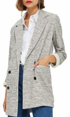 Topshop Long-Sleeve Slouch Coat