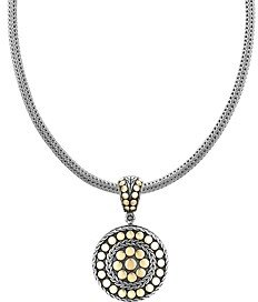 John Hardy Dot Deco Gold and Silver Round Enhancer