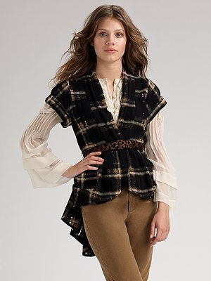 Nanette Lepore Colette Plaid Wool Jacket