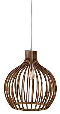 JCPenney Pendant Ceiling Light with Round Wood Shade