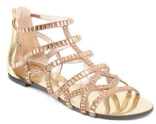 Vince Camuto Emera Beaded Suede Gladiator Sandals