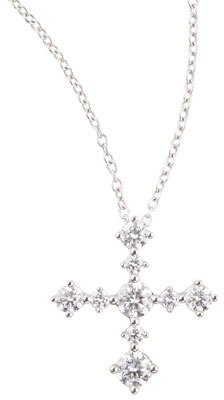 Forevermark Maria Canale Anniversary Collection Diamond Cross Pendant Necklace, F/SI1, 0.63 TCW