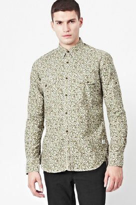 French Connection Camouflage Oxford Shirt