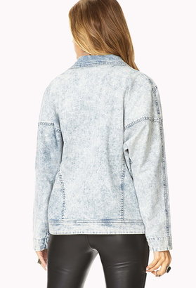 Forever 21 Contemporary Life In ProgressTM Acid Wash Jacket
