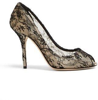 Dolce & Gabbana 'Chantily' Lace Pump